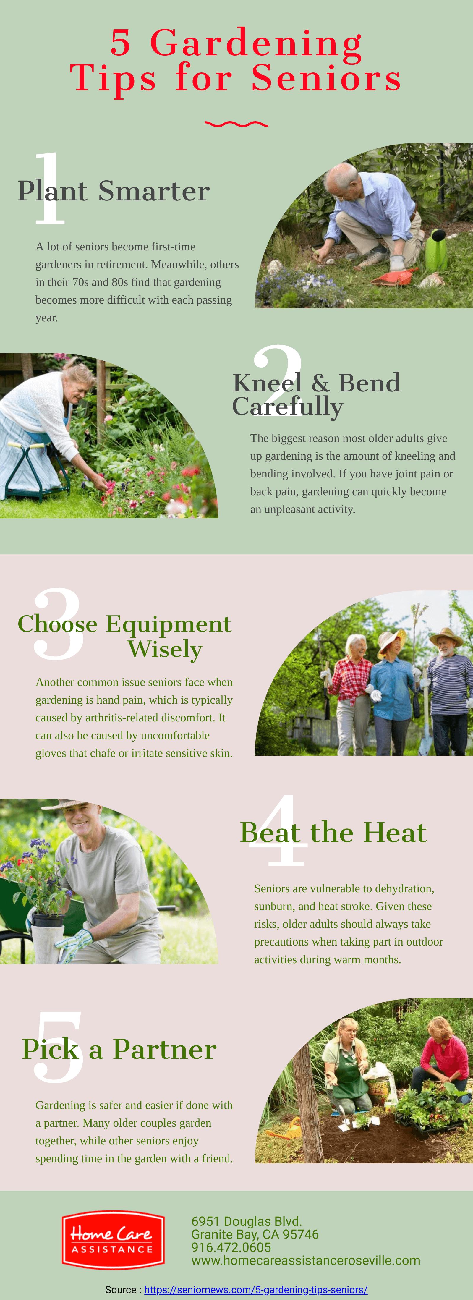 5 Gardening Tips for Seniors [Infographic]