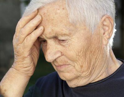 Senior with Alzheimer's