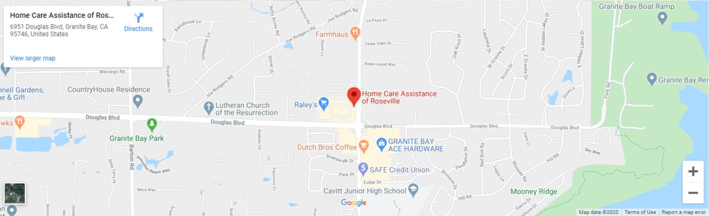 Map Directions of the best home care provider in Roseville